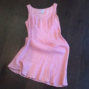 LOFT Pink and White Dress (6)